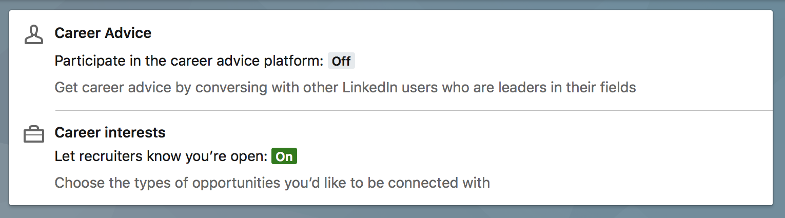 linkedin profile available for search